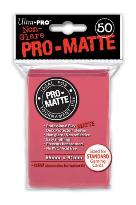 Ultra Pro Pro-Matte Fuchsia (50CT) Regular Size Sleeves
