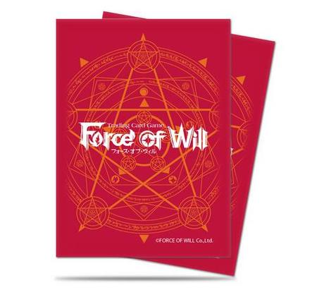 Ultra Pro Force Of Will - Red Card Back (65CT) Sleeves