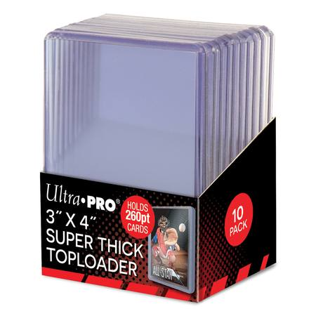 Ultra Pro 260pt Super Thick Top Loaders (10CT) Pack