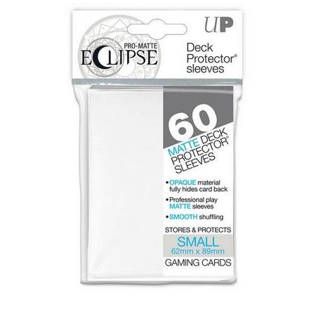 Ultra Pro YuGiOh Pro-Matte Eclipse (60CT) White Sleeves
