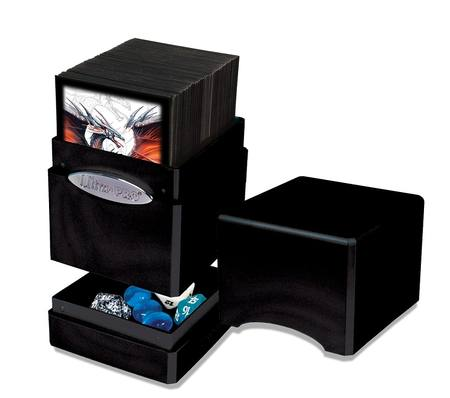 Ultra Pro Satin Tower - Hi-Gloss Midnight Deck Box