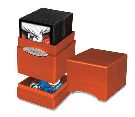 Ultra Pro Satin Tower - Hi-Gloss Pumpkin Deck Box