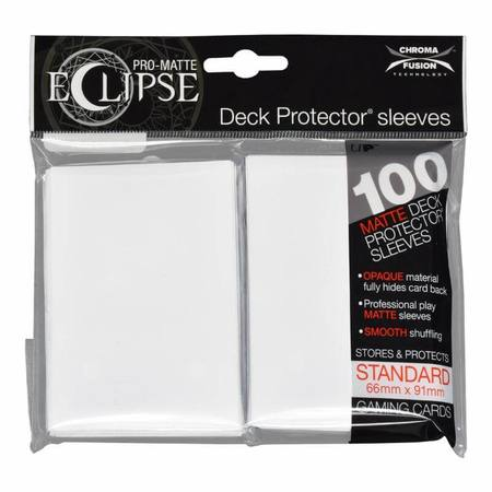 Ultra Pro Pro-Matte- Eclipse Arctic White (100CT) Regular Sleeves