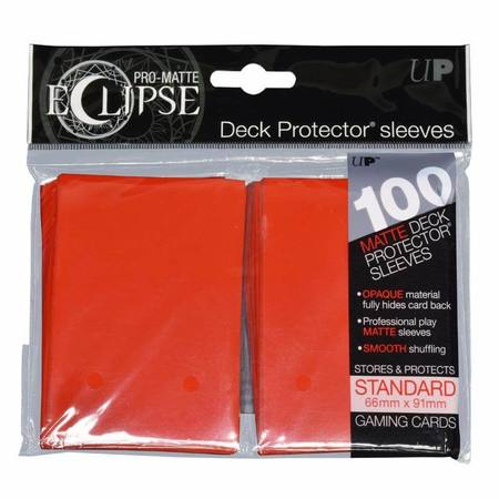 Ultra Pro Pro-Matte- Eclipse Apple Red (100CT) Regular  Sleeves