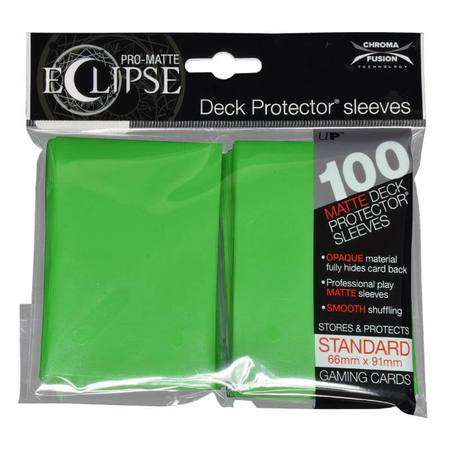 Ultra Pro Pro-Matte- Eclipse Lime Green (100CT) Regular Sleeves