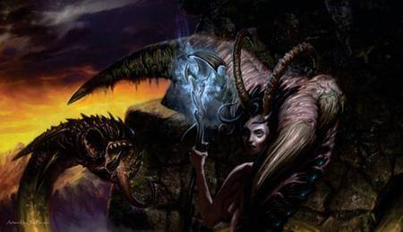 Action Sports Artists of Magic - Servant of the Demoness Playmat