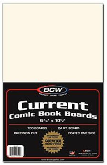 BCW Current Size Comic Backing Boards (Case of 10)