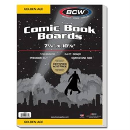 BCW Golden Age Backing Boards