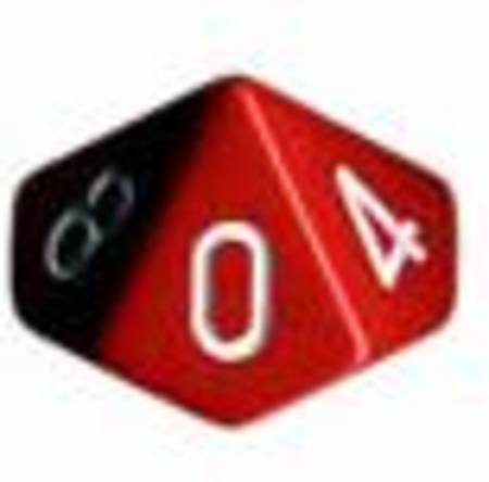 Opaque D10 Red with White (10CT)