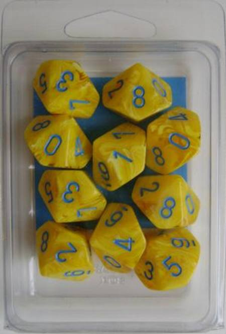 Vortex D10 Yellow w/blue (10CT)