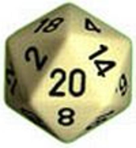 Opaque Jumbo 34mm D20 Ivory with Black