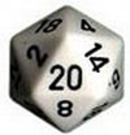 Opaque Jumbo 34mm D20 White with Black