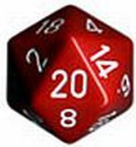 Opaque Jumbo 34mm D20 Red with White