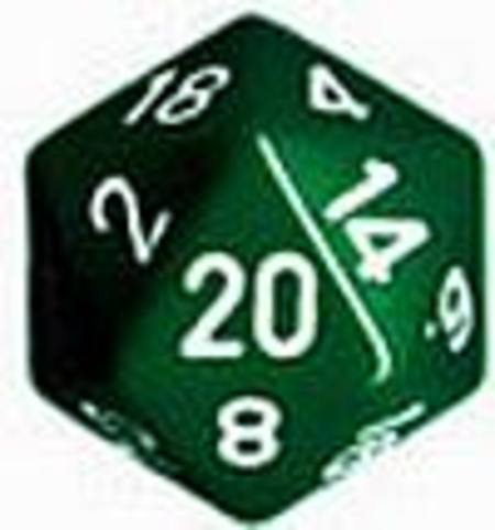 Opaque Jumbo 34mm D20 Green with White