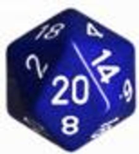 Opaque Jumbo 34mm D20 Blue with White