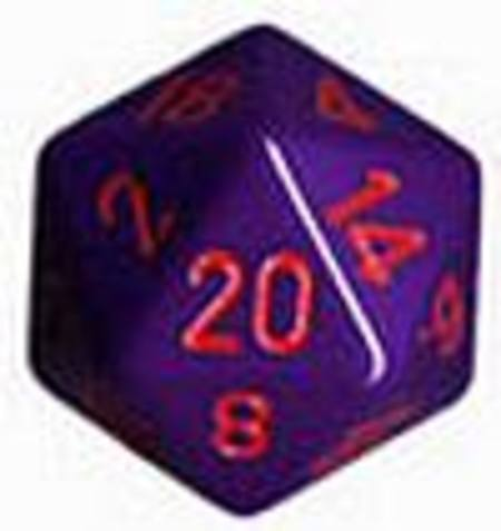 Opaque Jumbo 34mm D20 Purple with Red