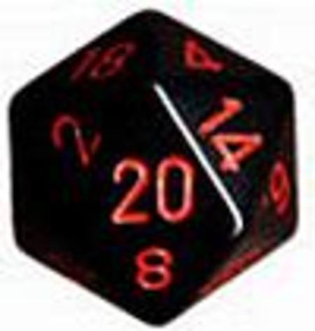 Opaque Jumbo 34mm D20 Black with Red